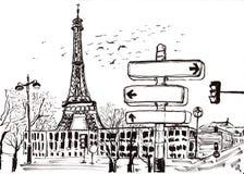 Tração Paris da mão Fotografia de Stock