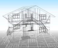 Tração técnica da casa. Vetor ilustração stock