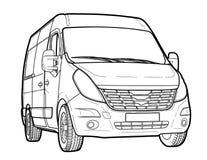Tração técnica do minibus moderno Imagens de Stock Royalty Free