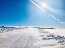 trações da neve da pradaria imagens de stock royalty free