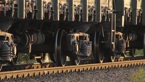 Trações do trem da carga video estoque