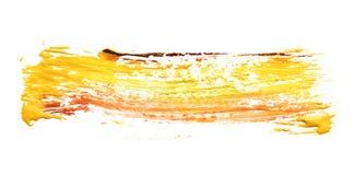Traçage abstrait de peinture mélangée de couleur sur le blanc image stock
