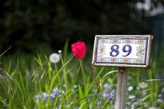 Traçage numéro 89 à un allotissement Photo libre de droits