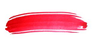 Traçage rouge d'aquarelle illustration stock