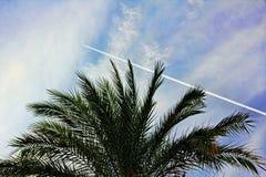 Traço do combustível dos aviões de lutador no céu azul turco Imagens de Stock Royalty Free