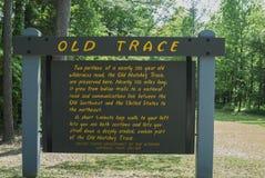 Traço velho de Natchez, MS Fotografia de Stock