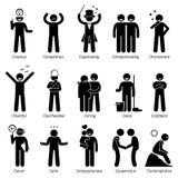 Traços de caráter positivos Clipart das personalidades ilustração do vetor