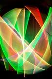 Traços de luz Fotografia de Stock Royalty Free