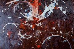 Traços de pintura na superfície Fotos de Stock