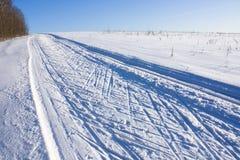 Traços do esqui imagens de stock royalty free