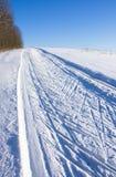 Traços do esqui foto de stock royalty free