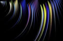 Traços do sumário de luz no fundo preto Imagens de Stock Royalty Free