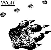 Traços - lobo ilustração stock