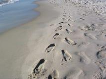 Traços na areia Fotografia de Stock Royalty Free