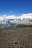 Traços trekking da montanha Imagem da cor Fotografia de Stock Royalty Free