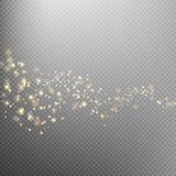 Traînée éclatante de la poussière d'étoile d'or ENV 10 illustration de vecteur