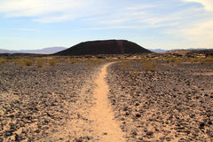 Traînée au cratère d'Amboy Images stock