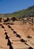 Traînée avec des étapes près de parc de Loma Point Tidepools photographie stock libre de droits