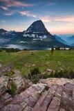 Traînée cachée de lac, parc national de glacier, Montana, Etats-Unis photos libres de droits