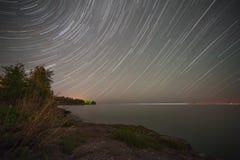 Traînée d'étoile du lac Supérieur Image libre de droits