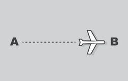 Traînée d'avion A à B illustration libre de droits