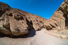 Traînée d'or de canyon Photo stock