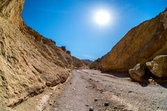 Traînée d'or de canyon Photos libres de droits
