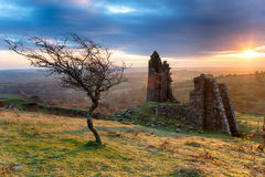Traînée d'en cuivre de colline de Caradon Image stock