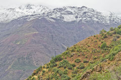 Traînée dans la montagne Photo libre de droits