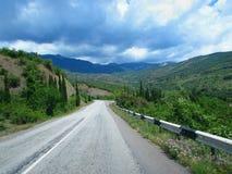 Traînée dans les montagnes Image libre de droits
