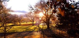 Traînée de coucher du soleil photos libres de droits