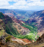 Traînée de Halemanu, canyon de Waimea, Kauai, Hawaï, Etats-Unis Photo stock