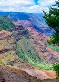 Traînée de Halemanu, canyon de Waimea, Kauai, Hawaï, Etats-Unis Photos stock
