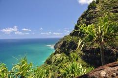 Traînée de Kalalau, Kauai, Hawaï photographie stock