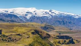 Traînée de Laugarvegur, réserve naturelle de Fjallabak, Islande Images libres de droits