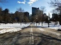 Traînée de liberté au milieu de la voie par le terrain communal de Boston image libre de droits