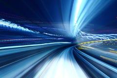 Traînée de lumière de camion de train images libres de droits