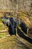 Traînée de marche chez Smith Mountain Hydroelectric Dam photo stock