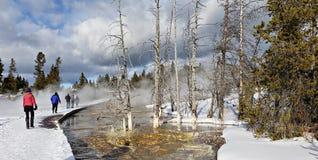 Traînée de pot de peinture de fontaine, parc national de Yellowstone images stock