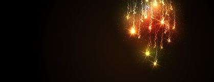 Traînée de scintillement du ` s Eve Rocket Background Template de nouvelle année - dirigez l'illustration illustration de vecteur