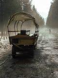 Traînée de touristes à Morskie Oko Photo stock