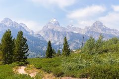 Traînée de trekking en parc national grand de Teton Photographie stock