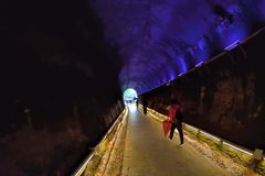 Traînée de tunnel Photo stock