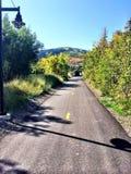 Traînée de vélo de Park City Utah Images stock