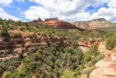 Traînée de Wilson Canyon chez Sedona, Arizona Photo libre de droits