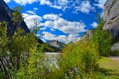 Traînée Jasper National Park Canada de crique de beauté Image stock