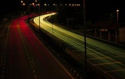 Traînée légère de circulation dense Photographie stock libre de droits