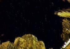 Traînée Panaroma d'étoile de nuit dans Kars image libre de droits