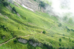 Traînée sur le plan rapproché de paysage de montagne Photographie stock libre de droits