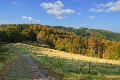 Traînée touristique dans les montagnes dans le beau paysage Photographie stock libre de droits